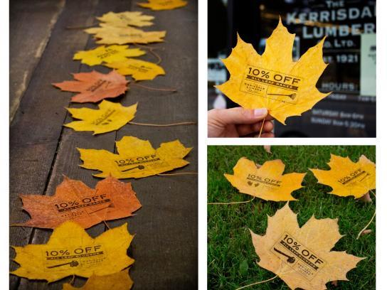 Kerrisdale Lumber Ambient Ad -  Leaves