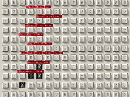Honda Print Ad - Keyboard