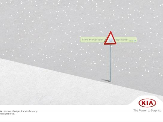 KIA Print Ad -  Snow