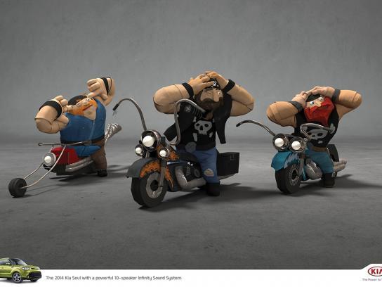 KIA Print Ad -  Bikers