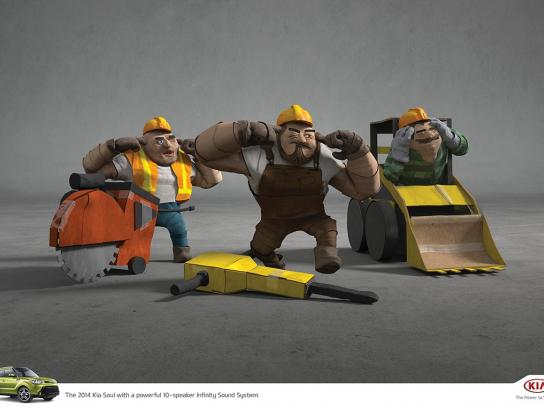 KIA Print Ad -  Construction workers