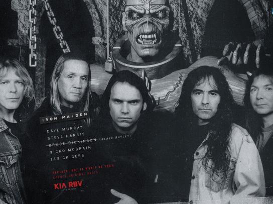 KIA Print Ad -  Iron Maiden