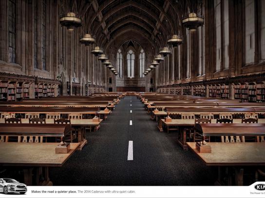 KIA Print Ad -  Library