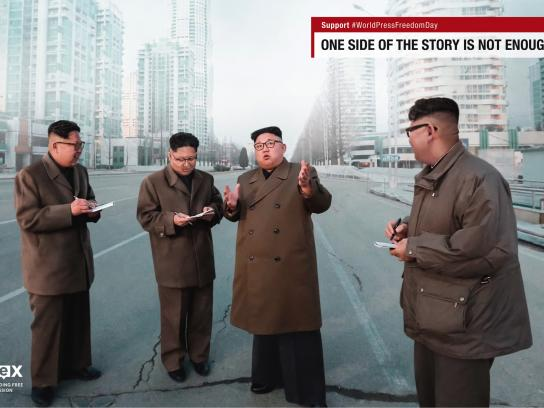 IFEX Print Ad - Leaders on Leaders - Kim Jong-un on Kim Jong-un