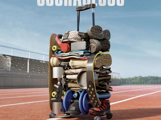 Samsonite Outdoor Ad - We carry the world - Courageous