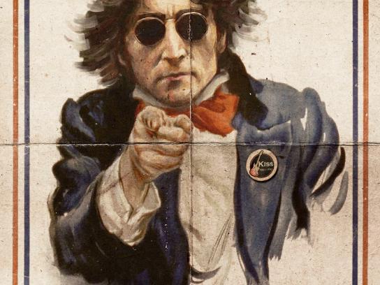KISS FM Print Ad -  Lennon