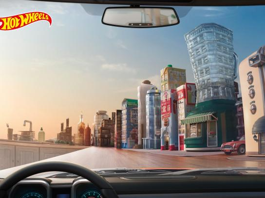 Hot Wheels Print Ad -  Kitchen Town
