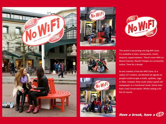 Kit Kat Ambient Ad -  Free No-WiFi Zone