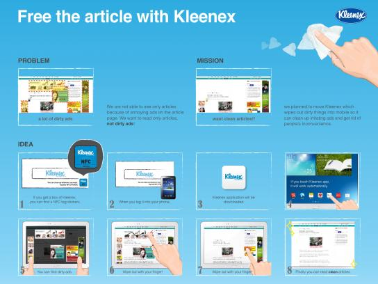 Kleenex Digital Ad -  Clean news