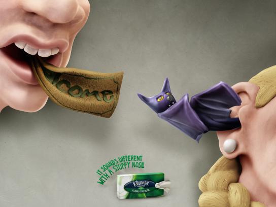 Kleenex Print Ad -  Mat-Bat