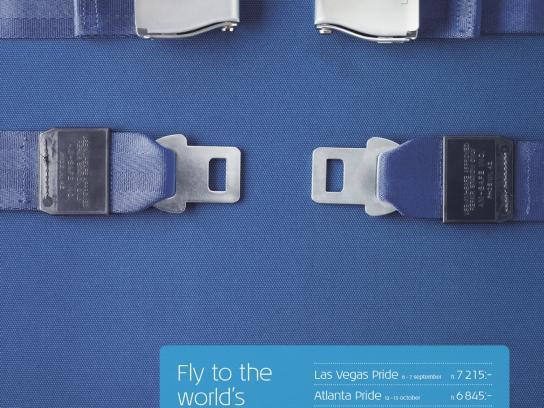 KLM Print Ad -  Worldwide Pride Festivals