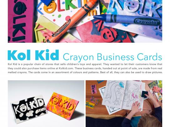 Kol Kid Direct Ad -  Kol Kid Crayon Business Cards