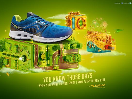 Kolosh Print Ad -  Run, 1