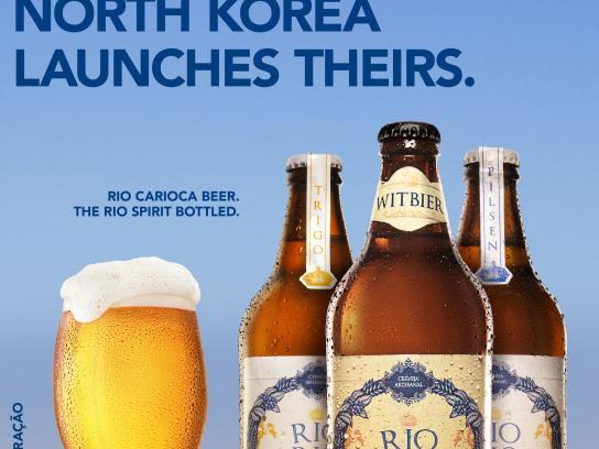 Rio Carioca Beer Print Ad - Korea