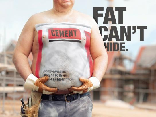 Kingdom of Sports Print Ad -  Fat can't hide, Worker