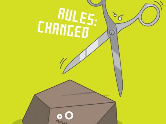 Krav Maga Print Ad -  The scissors