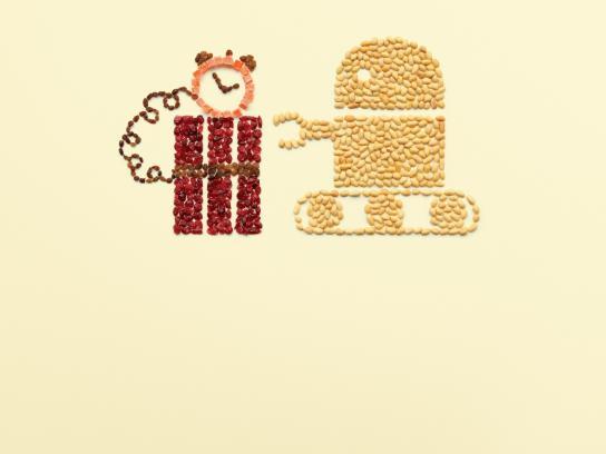 Krispy Kernels Print Ad -  Robot