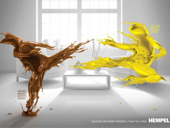 Hempel Print Ad -  Living room