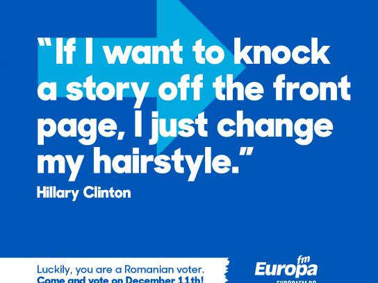 Europa FM Radio Print Ad - #voteinRomania, 5