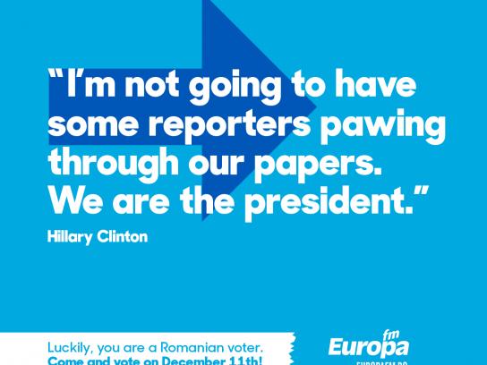 Europa FM Radio Print Ad - #voteinRomania, 2