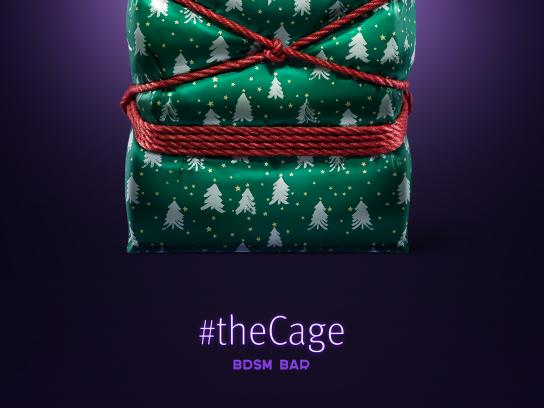 The Cage Bar Outdoor Ad - Box