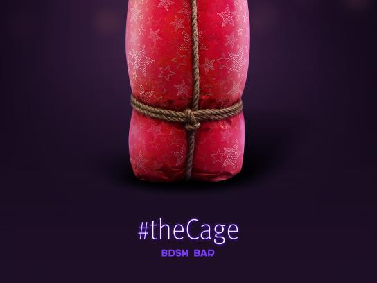 The Cage Bar Outdoor Ad - Circle