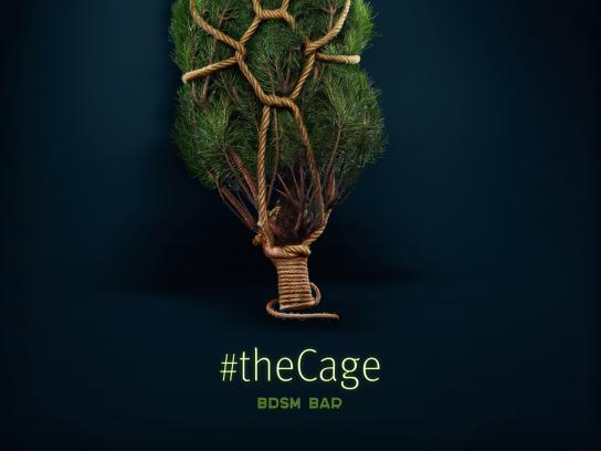 The Cage Bar Outdoor Ad - Tree