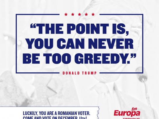 Europa FM Radio Print Ad - #voteinRomania, 6