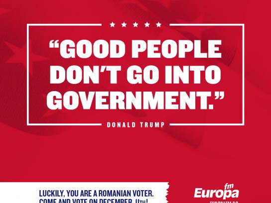 Europa FM Radio Print Ad - #voteinRomania, 3