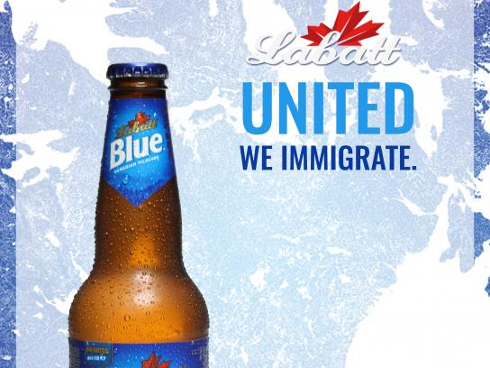 Labatt Blue Print Ad - United We Immigrate, 1