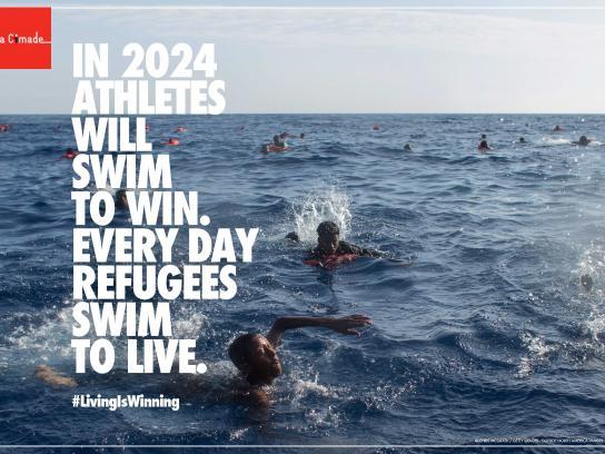 La Cimade Print Ad - Swim