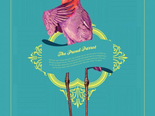 Lady Fozaza Print Ad -  The Proud Parrot