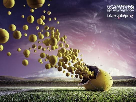 La Gazzetta dello Sport Print Ad -  Tennis