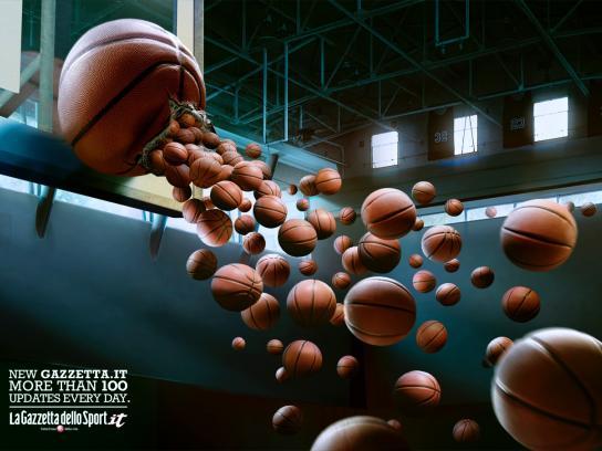 La Gazzetta dello Sport Print Ad -  Basketball