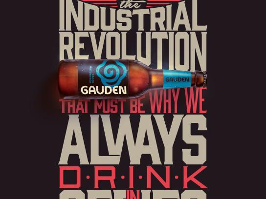 Gauden Bier Print Ad - Lager