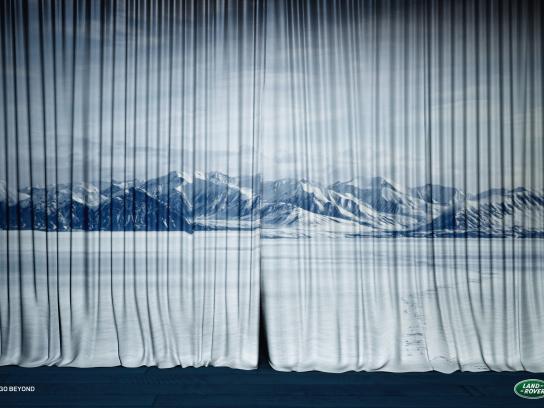 Land Rover Print Ad -  Curtain, Arctic