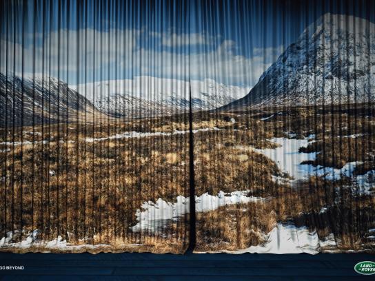 Land Rover Print Ad -  Curtain, Tundra