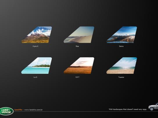 Land Rover Print Ad -  App
