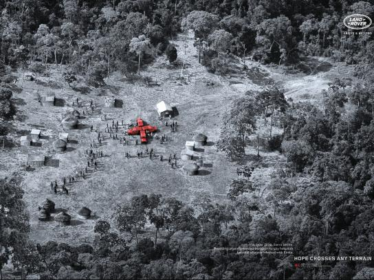 Land Rover Print Ad -  Ebola