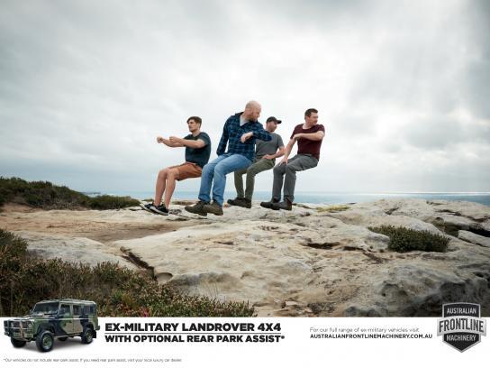 Australian Frontline Machinery Print Ad -  Rear park assist