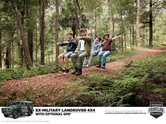 Australian Frontline Machinery Print Ad -  GPS