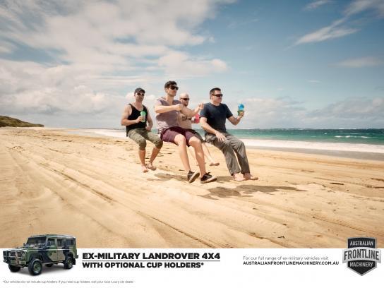Australian Frontline Machinery Print Ad -  Cup holders