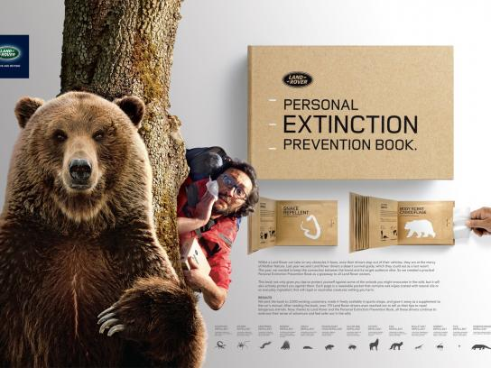Land Rover Direct Ad -  Personal Extinction Prevention Book