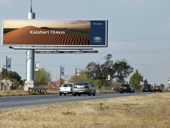 Land Rover Outdoor Ad -  Kalahari