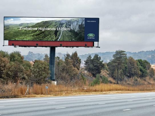 Land Rover Outdoor Ad -  Zimbabwe Highlands