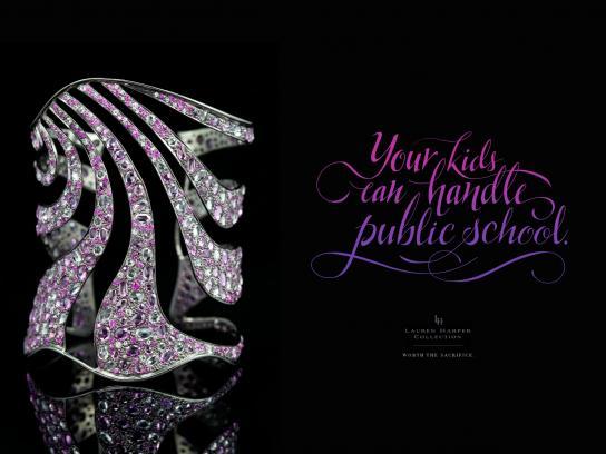 Lauren Harper Print Ad -  Public school