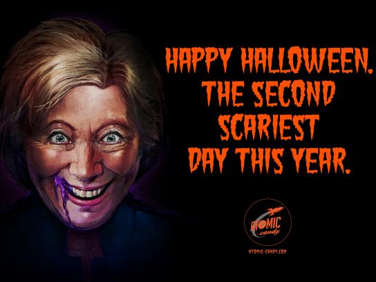 Atomic Candy Print Ad - Halloween - Hillary