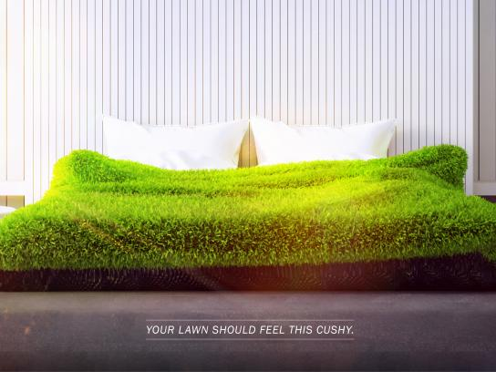 Lawn Doctor Print Ad - Lush Lawn - Bed