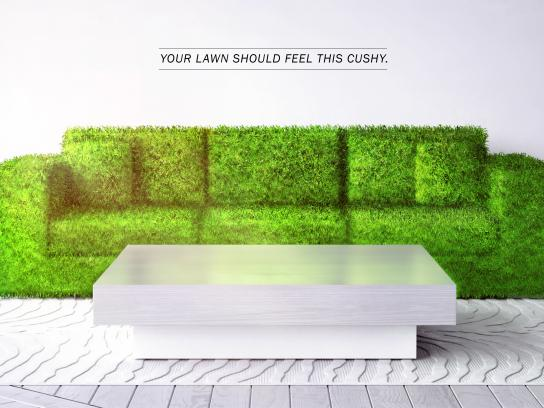 Lawn Doctor Print Ad - Lush Lawn - Couch