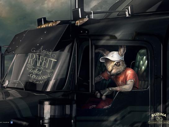 Buzina Gourmet Food Truck Print Ad -  Truck Driver, 1
